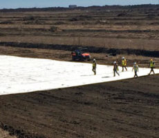 high strength geotextile fabric installation