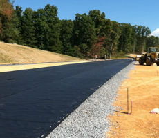 installation of paving geotextiles